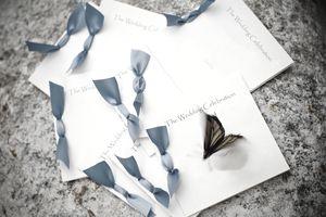 Butterfly Release Wedding Program Invitation
