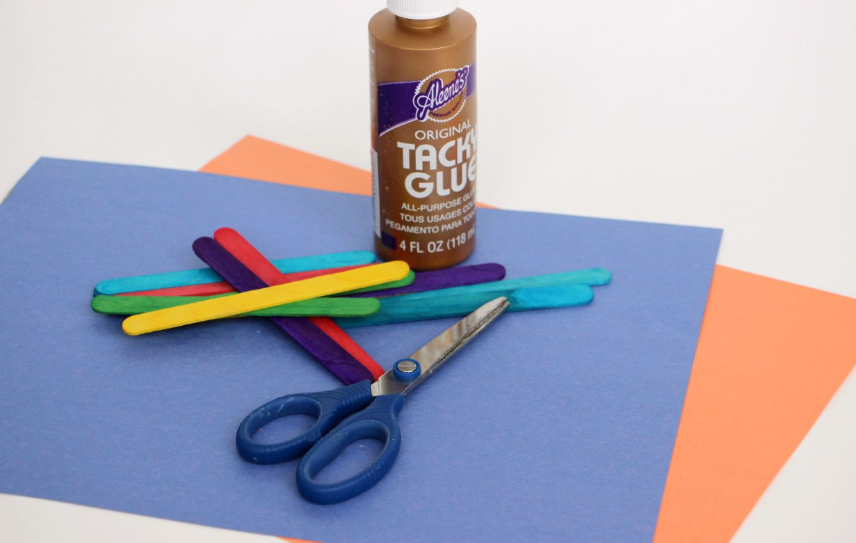 diy craft stick rocket ship craft