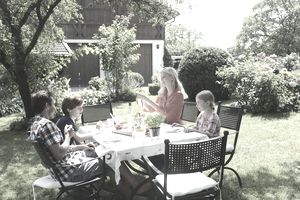 cosy better homes and gardens sweepstakes winners. Photo of people in their back yard  illustrating About com s Home Sweepstakes List Win Prizes for Your House Garden