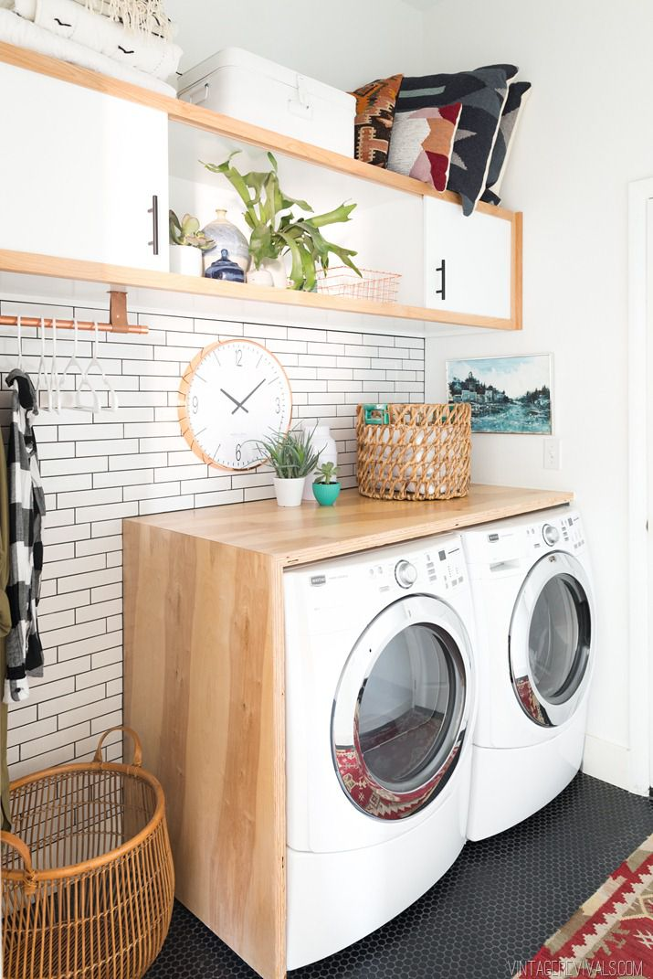 20 clever diy laundry room ideas for Lavaderos para casa