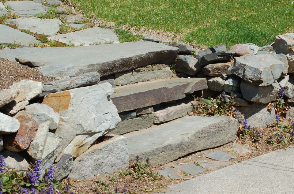 Image: outdoor steps made of stone.