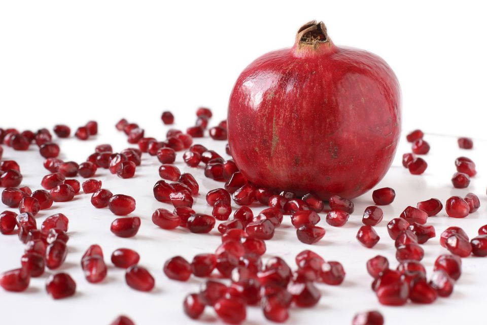 Whole Pomegranates and Seeds