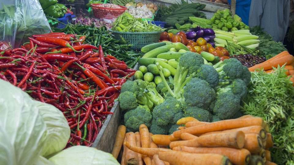 Fresh vegetables at traditional market