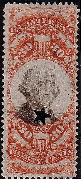 A revenue stamp is part of the back of book (BOB) listings of the Scott Specialized Catalog of U.S. Stamps and Covers.