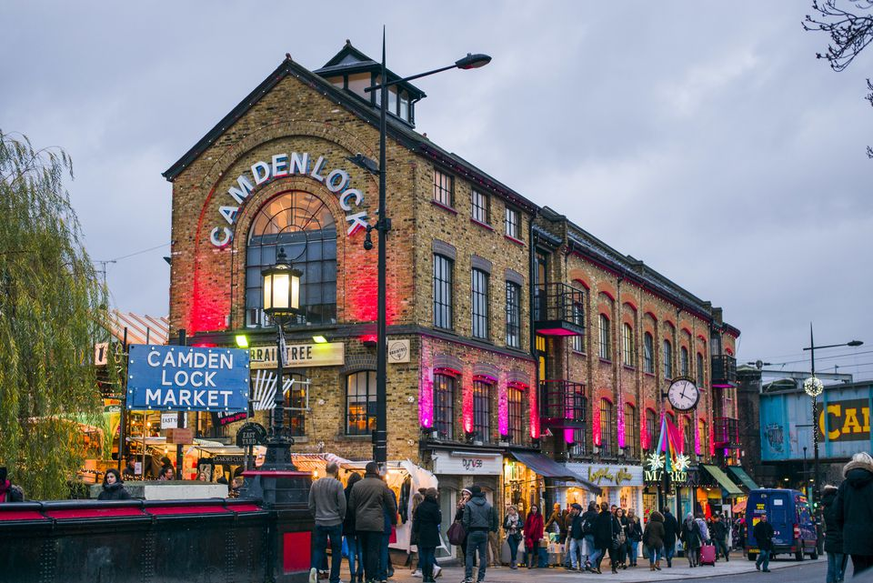 England, London, Camden, Camden Market, Market Hall exterior