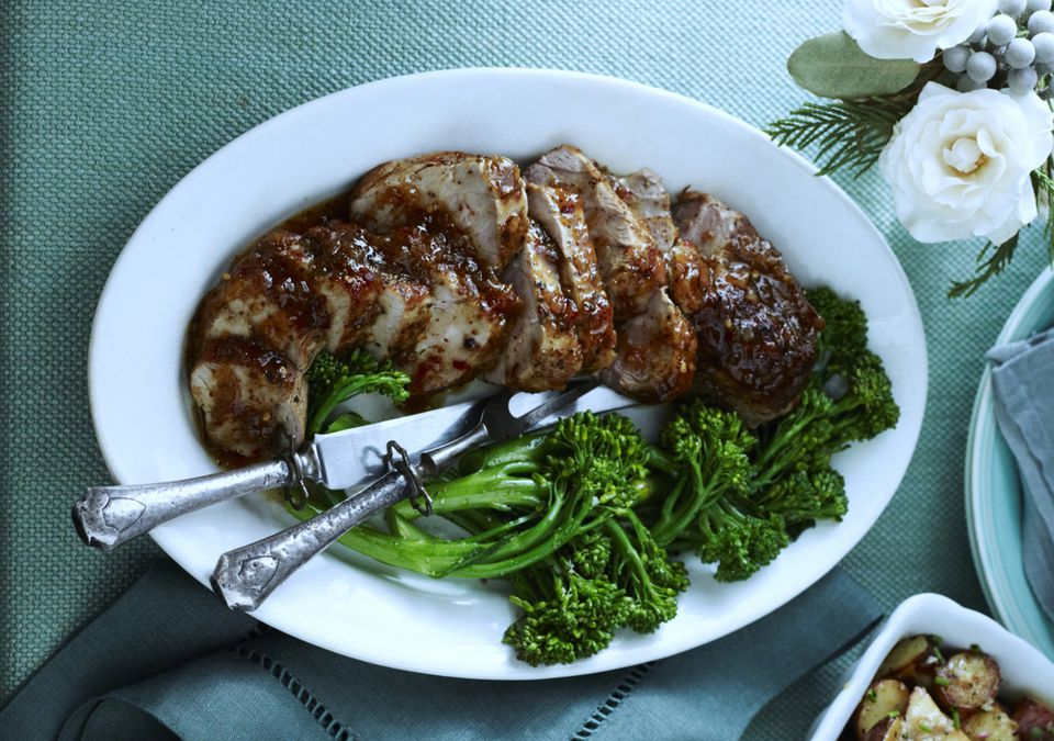 pork tenderloin with sauce