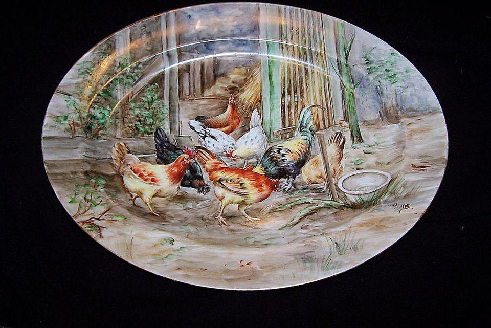 Haviland Limoges Barnyard Platter