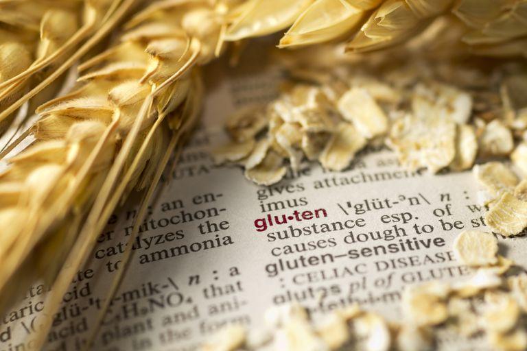 wheat stalk with definition of gluten intolerance
