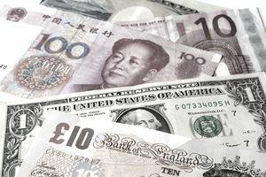 Mix of major world currencies
