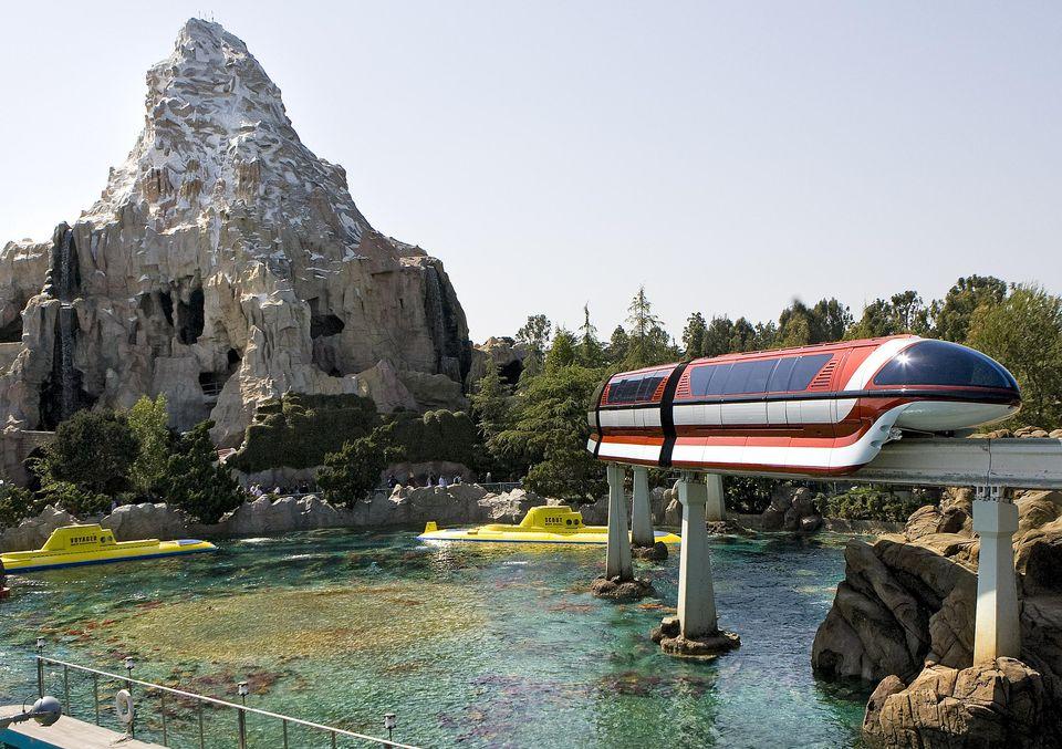 Disneyland Submarine Voyage, Monorail, and Matterhorn