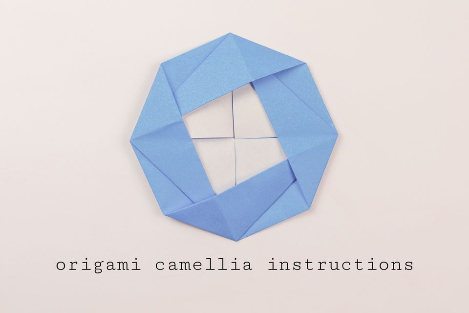 origami camellia instructions