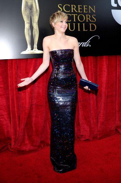 Jennifer Lawrence on red carpet.
