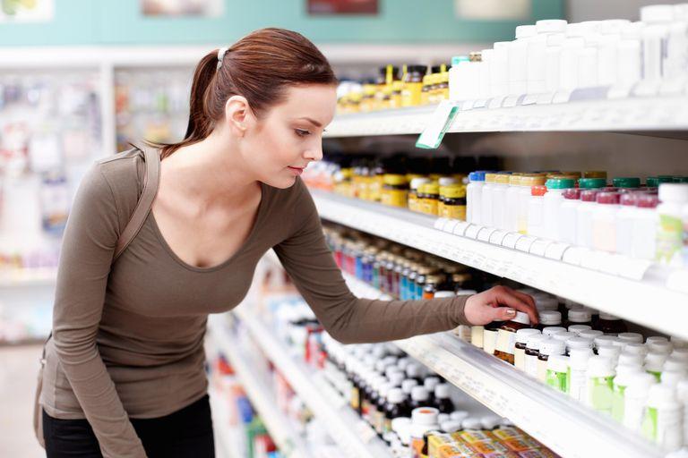 Customer buying medicine