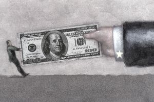 Tug of War with 100 Dollar Bill