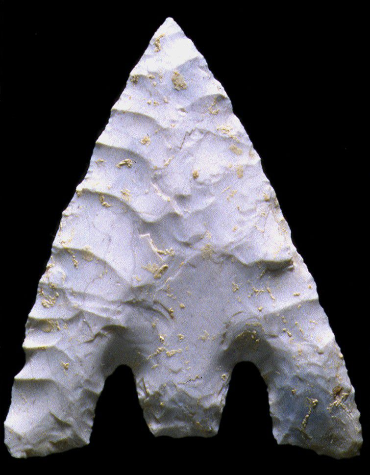 One of the many Amesbury Archer arrowheads in detail, from Stonehenge (Beaker 2,300 BC).