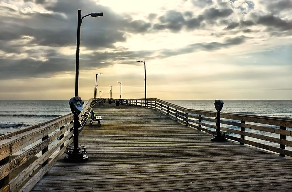 Guide to the virginia beach boardwalk for Fishing piers in va
