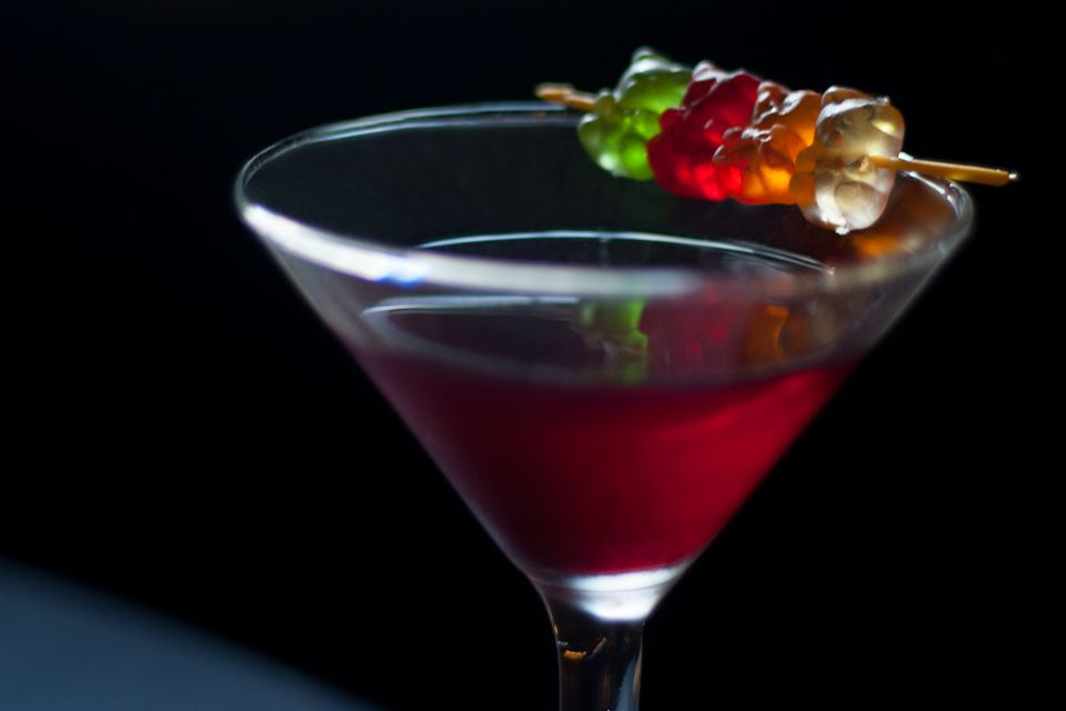Colleen Graham's Easy Gummy Bear Martini - Vodka Cocktail Recipe