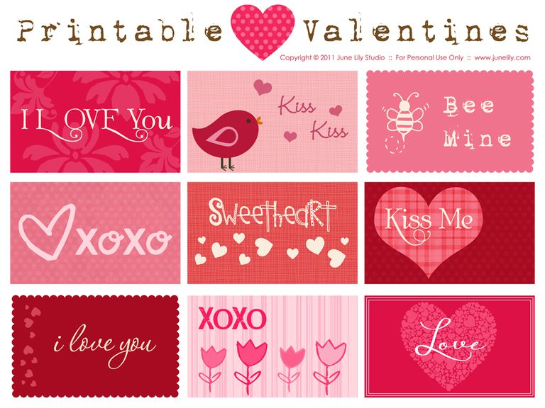 june lilys free printable valentine cards - Photo Valentine Cards