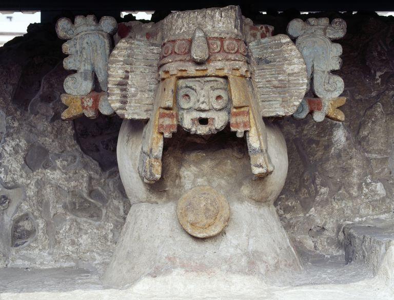 Goggle-Eyed Tlaloc, Aztec God of Rain