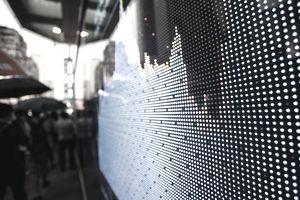 Stock display screen board in street