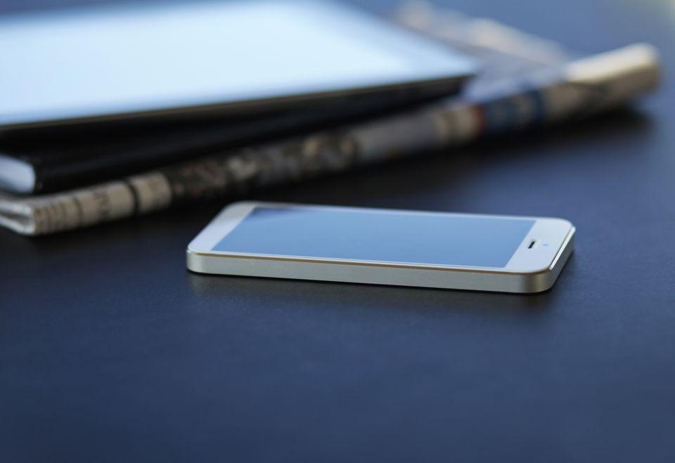 cell phone still life