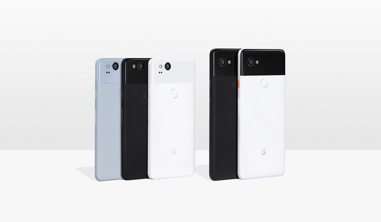 Photo of a Google Pixel 2 and Pixel XL