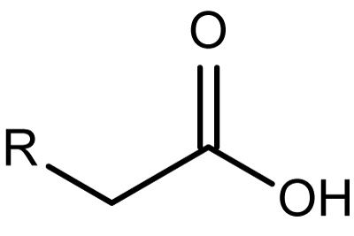 This is the chemical structure of the carboxylic acid functional group.