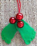 Baby Mistletoe and Holly Craft