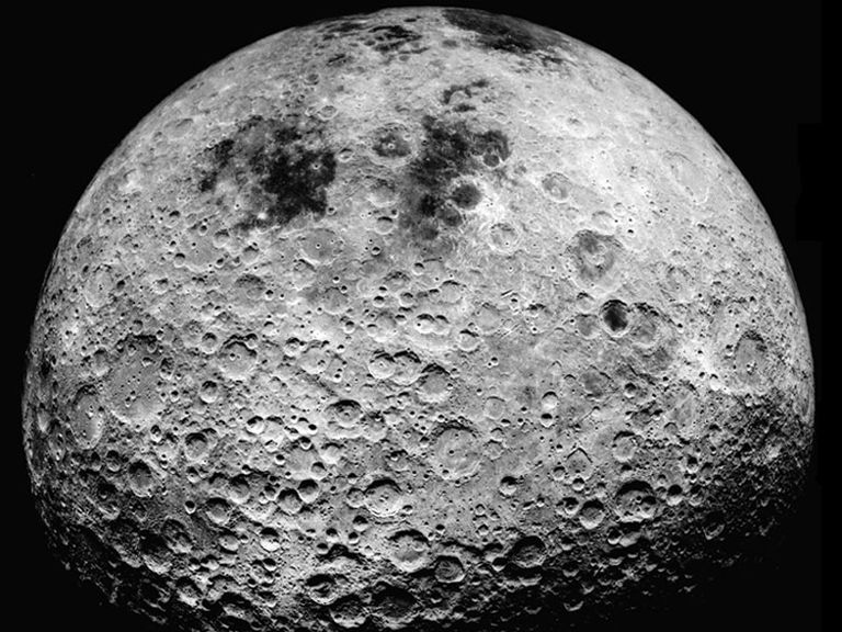 Image of the moon's far side