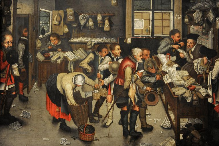 The Collector's Office by Pieter Brueghel the Younger