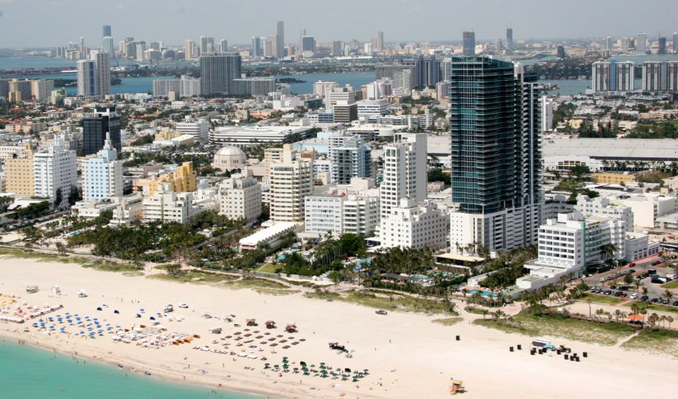 Miami's South Beach from the sky