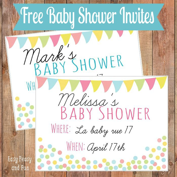 19 sets of free baby shower invitations you can print filmwisefo Gallery
