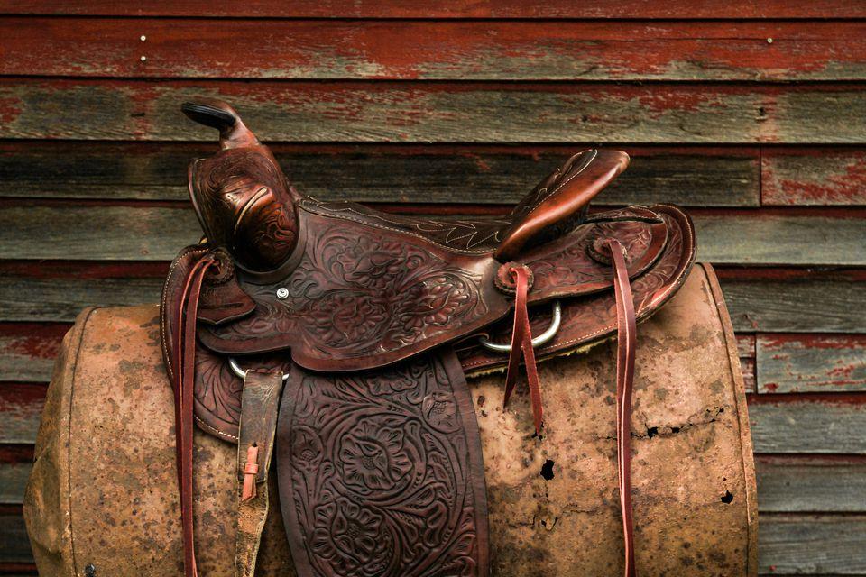 Western Leather Saddle