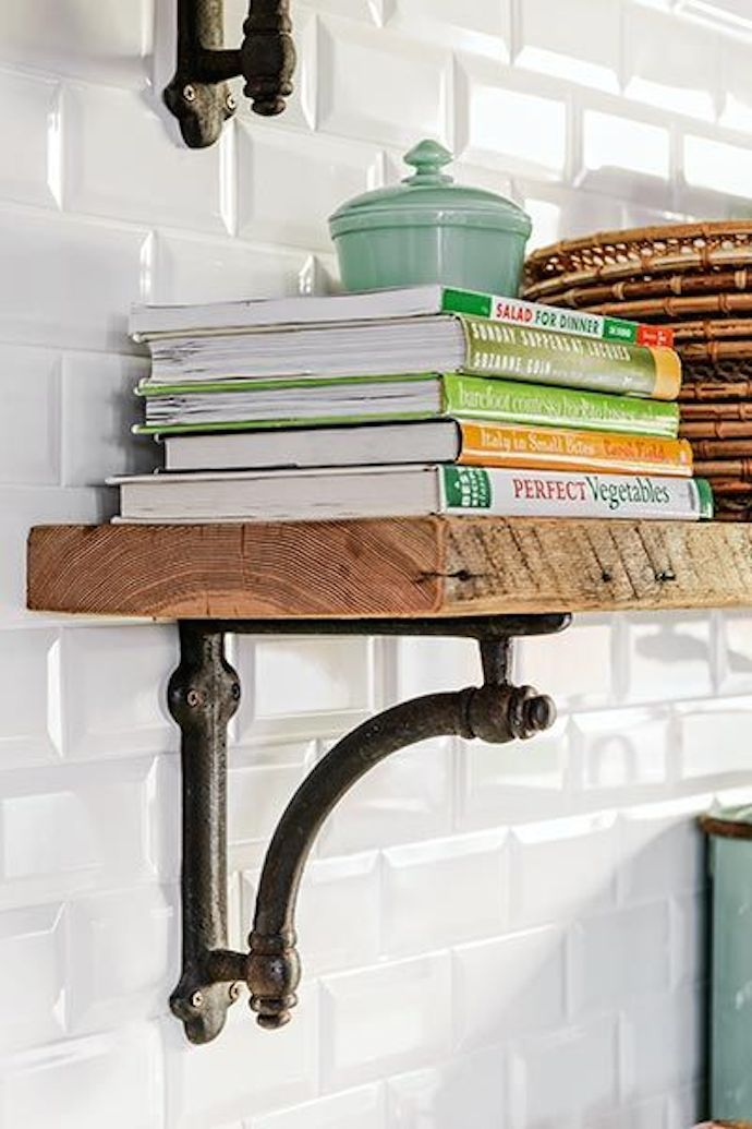 Display Cookbooks on Open Shelving