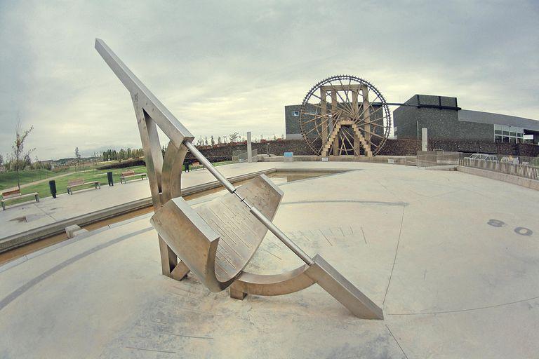 sundial in Zaragoza, Spain