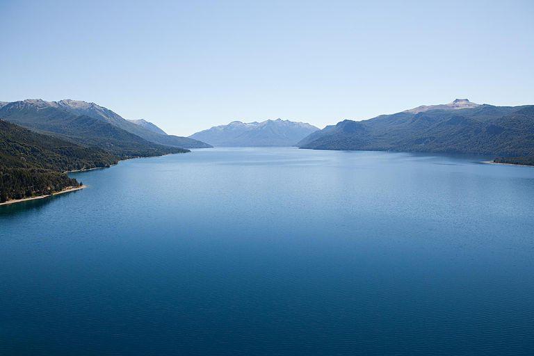 Lake in san carlos de bariloche area in argentina