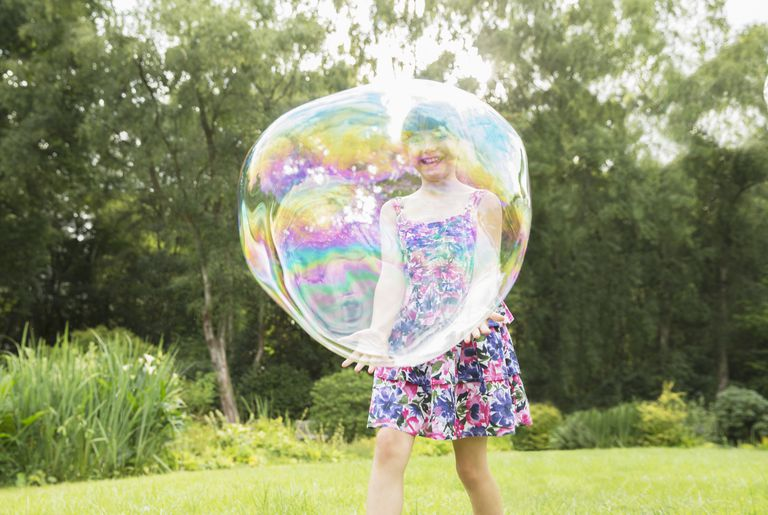 Chemistry is the key to blowing a giant bubble that won't pop.