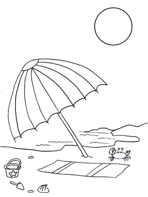 free summer coloring pages at coloringws - Summer Coloring Page