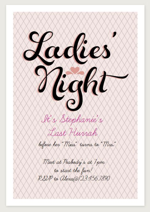 Free Printable Bachelorette Party Invitations