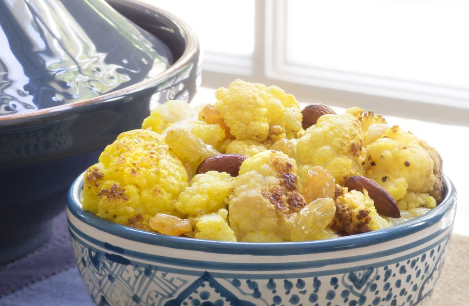 Moroccan Chicken and Cauliflower Salad