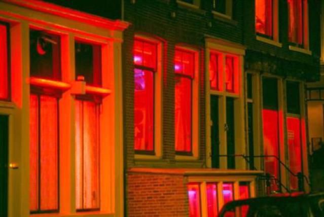 Windows in Amsterdam's Red Light District