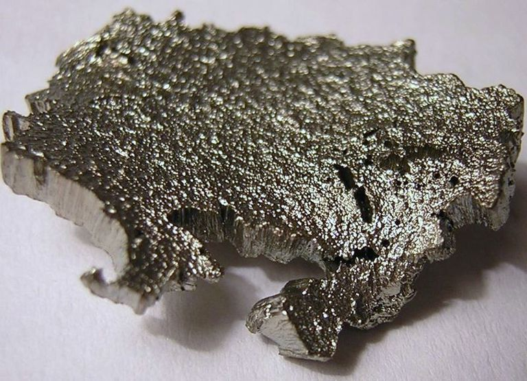 This is a photo of scandium. Scandium is a soft silvery metal.