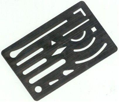 a metal eraser shield