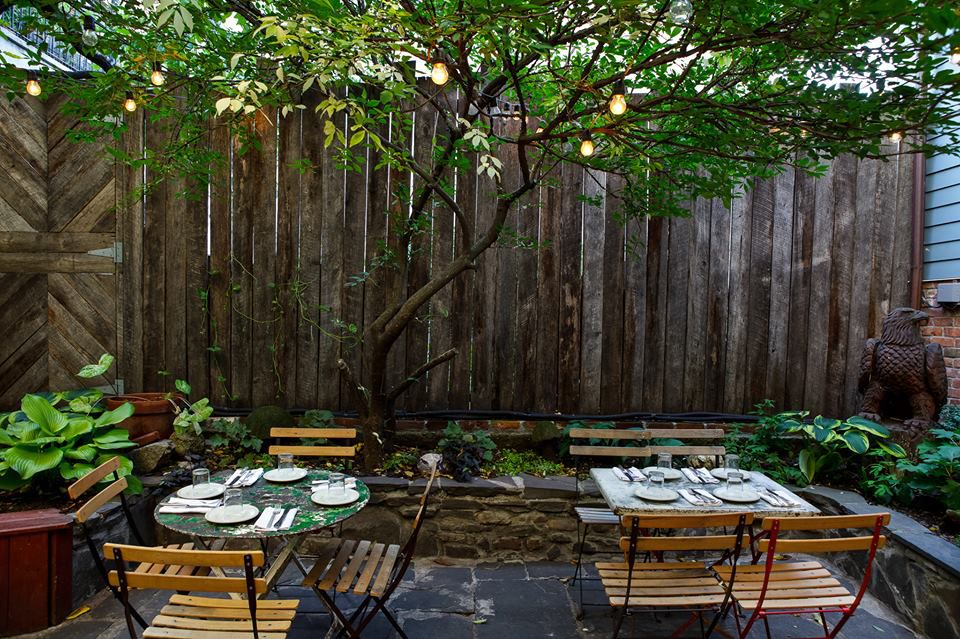 Outdoor dining at the Vinegar Hill House