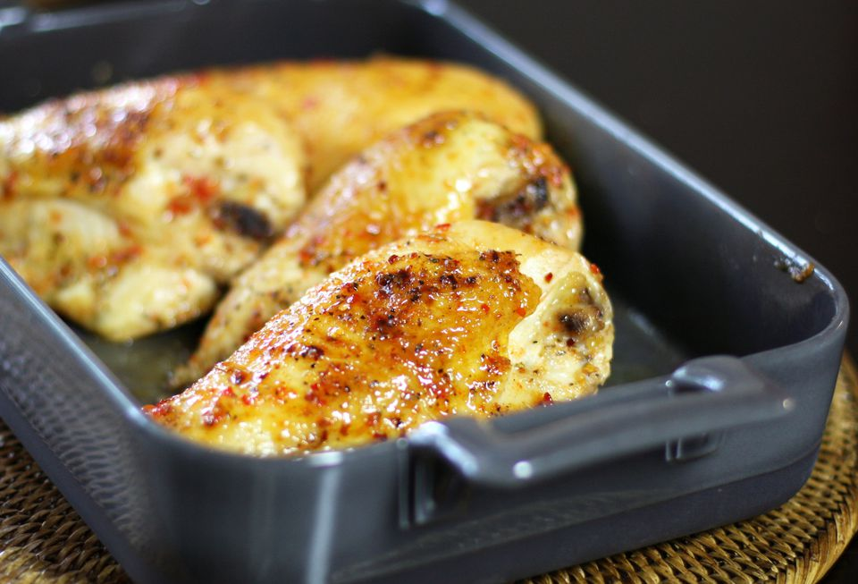 Roasted Chicken With Pepper Jelly