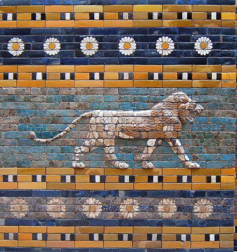 Friso de León Puerta de Ishtar Museo de Pérgamo Berlín