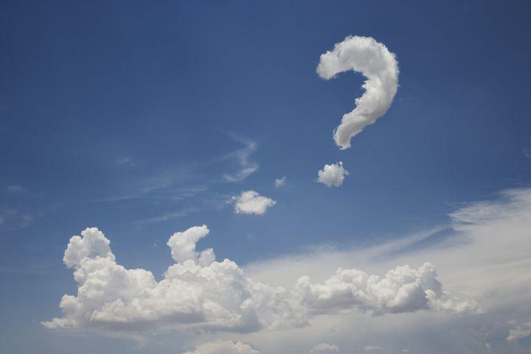 Question mark cloud (Digital Composite)