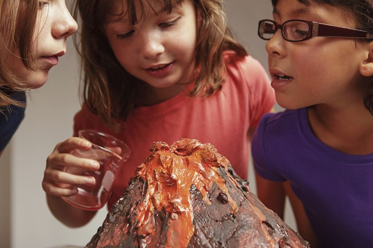 A baking soda and vinegar volcano is a classic chemistry project.