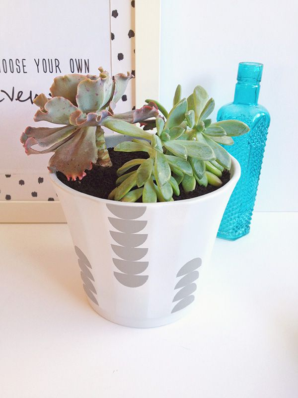 DIY Scallop Patterned Planter