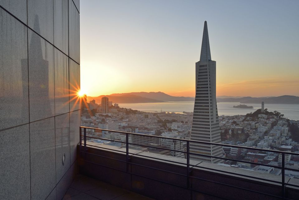 The view from the Loews Regency Hotel, San Francisco